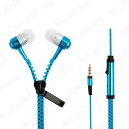 $enCountryForm.capitalKeyWord Canada - 2016 Stereo metal head 3.5mm in-Ear Earphone Earbuds Earphones Headphone with Mic Zipper Headset For iPhone Samsung 50pcs lot