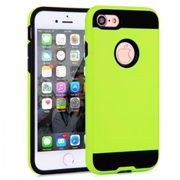 Bumpers for cell phones online shopping - 2016 New Cell Phone Case Cover for Apple iPhone Plus S S Plus Green Thin Wiredrawing Armor Shell PC TPU Bumper