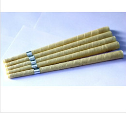 Wholesale new hot pure beewax ear candle unbleached organic muslin fabric with protective disc CE quality approval