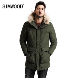 $enCountryForm.capitalKeyWord Canada - Wholesale- SIMWOOD New Winter 90% White Duck Down Coats Men Warm Fur Hood Removable Parka Fashion Thicken Jacket YR1003