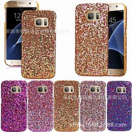 S6 Hard Crystal Edge NZ - 2017 New Luxury Glitter Powder Hard Case Bling Stars Crystal Diamond Back Skin Cover For iPhone 6 6 Plus Samsung Galaxy S6 S6 S7 Edge