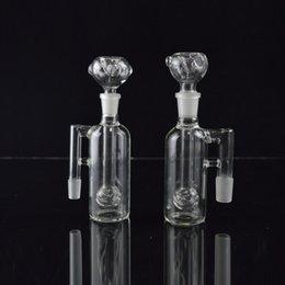 Crystal shisha online shopping - Clear Glass Ash Catcher Glass Bongs Dab Oil Rigs Crystal Ball Perc Ash Catcher mm Hookahs Shisha on Sale