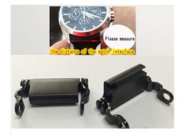 Браслет часы адаптер разъем на складе из нержавеющей стали адаптер 20 мм 22 мм 24 мм 26 мм 28 мм серебро и черный M996