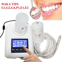 Wholesale Portable Dental Ultrasonic Scaler push button control Handpiece Tube Connection Detachable whith two bottles and working tips YS CS B
