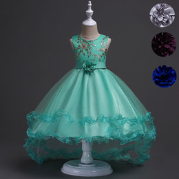 $enCountryForm.capitalKeyWord Canada - Short Front Long Back High Low Flower Girls Junior Wedding Dresses Kids Trailing Party Prom Gowns Children Clothing