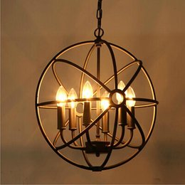 Loft American Style Retro Nordic Vintage Pendant Light Iron Industrial Hanging Lamp Living Room Dining Fixture