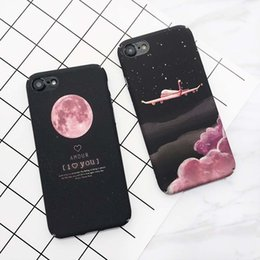 $enCountryForm.capitalKeyWord Canada - Cartoon Stars Space Moon Case For iPhone 7 Case For iPhone7Plus 6 6s Plus Airplane Frosted Hard PC Cover Phone Cases