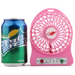 $enCountryForm.capitalKeyWord NZ - Mini Portable Rechargeable Fan F95B Battery Operated LED Lamp for Indoor Outdoor Kids Table 18650 Battery colorful DHL Freeshipping 50pcs