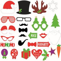 $enCountryForm.capitalKeyWord Canada - Christmas Party Photo Props Masks 4 Styles Santa Claus Mustache Hats Candy Gift Lips Rabbit Glasses Tie HoHoHo Slogan Photo Booth Props