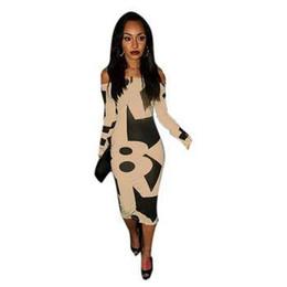 $enCountryForm.capitalKeyWord NZ - Nice Sexy Lady Off Shoulder Long Sleeve Print Dresses Stretch Bodycon Dress Club Wear M-xxl 58