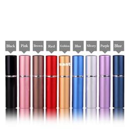 Discount 6ml perfume bottle - 6ml Mini Portable Refillable Perfume Atomizer Colorful Spray Bottle Empty Perfume Bottles