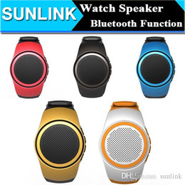 Discount watch player B20 Bluetooth Sport Speaker Stylish Watch Design Portable Super Bass Outdoor Speakers Wrist Bracelete With Built-in Micr