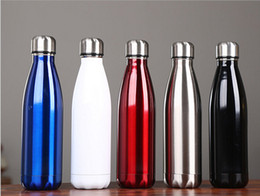 $enCountryForm.capitalKeyWord Canada - Cola Shaped Water Bottle Light Color 500ml 350ml Stainless Steel Insulated Double Wall Vacuum Coke Water Bowling Thermos Bottle Mugs Hot