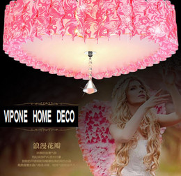 ceiling lights heart UK - Chandelier Ceiling love fashion pink. Pvc bedroom romantic heart shaped lighting fixtures. Heart marriage room lights