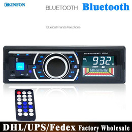 Wholesale DHL New V Car Stereo FM Radio MP3 Audio Player Support Bluetooth For Phone Car MP3 Player