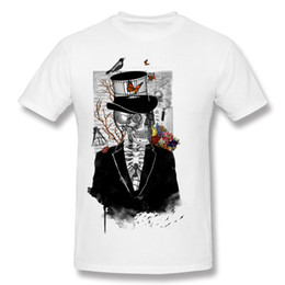 science shirts NZ - Novelty mans tshirts gothic skull gentlemen vintage male short sleeves O-neck tees shirt marvelous art design clothing Mr. Science