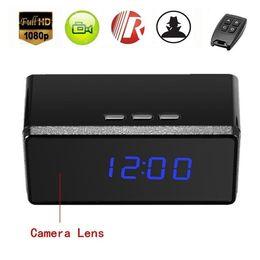 Discount mini ir surveillance cameras - Remote contorl Alarm Clock MINI Camera HD 1080P IR night vision Clock MINI DV DVR Camera home Security & Surveillance Ca