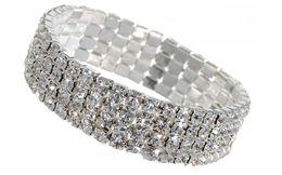 Cheap Brand Jewelry NZ - New Design Brand Bangle diamante Bracelet crystal Cuff Bracelets Women's girls' Jewelry cheap price free shipping