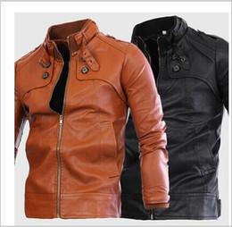 Discount Leather Jacket Dark Blue Men | 2017 Leather Jacket Dark ...