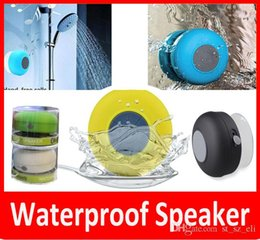 $enCountryForm.capitalKeyWord Canada - Universal Type Waterproof Wireless Bluetooth Speakers Shower Car Handsfree Receive Call Mini Suction IPX4 Speakers Box Player Mic Promotion