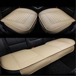 db92e17f99 Car front back Seat Covers bamboo charcoal artificial PU leather Universal  Fit SUV sedans