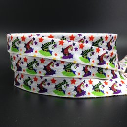 "$enCountryForm.capitalKeyWord NZ - New Arrival 5 8"" Witch Hats Print Fold Over Elastic 100 yards Halloween FOE Elastic Tape Ribbon for Hair Tie DIY Head Wear Hair Accessories"
