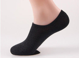 China Wholesale-New 2015 Unisex Loafer Boat Non-Slip Invisible No Show Nonslip Liner Low Cut Cotton Socks supplier boat loafers suppliers