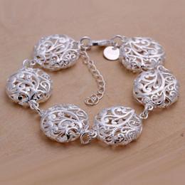 $enCountryForm.capitalKeyWord NZ - high quality Hollow flowers 925 silver charm bracelet 20x1.8cm DFMWB235,women's sterling silver plated jewelry bracelet