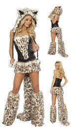 Tiger Uniform Canada - Frisky Leopard Women's Clothes Catwoman Costume Dance Wear Sexy Halloween Party Costume cosplay Tiger costume 2118