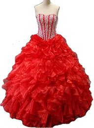 $enCountryForm.capitalKeyWord UK - New Elegant Red Blue Ball Gowns Quinceanera Dresses 2017 With Beads Crystals Lace Up Sweet 16 Dresses 15 Year Prom Gowns QS1054
