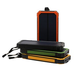 Chinese  20000mah solar Power Bank Solar Charger Waterproof Batterie Externe Dual USB Camping Powerbank Portable Battery Charger with LED Light manufacturers