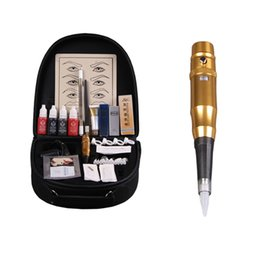 $enCountryForm.capitalKeyWord Canada - High quality Eyebrow Tattoo Machine set For Tattoo Worker Complete Tattoo kit For Eyebrows Permanent Eye Makeup