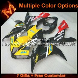 $enCountryForm.capitalKeyWord NZ - 23colors+8Gifts YELLOW BLACK YZF R1 04 05 06 motorcycle fairing For Yamaha YZF 1000 YZF-R1 06 05 04 ABS plastic motor panels kit