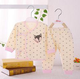$enCountryForm.capitalKeyWord Canada - 2pcs set Cute Newborn Baby Boys Girls Clothing Set Cotton Cartoon Long Sleeve Toddler Underwear for 0-6M