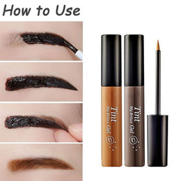 Sourcils Font Un Stylo Pas Cher-2016 Maquillage Brown Eyebrow Gel 3 Couleurs Cejas Make Up Crayon Sourcils Imperméable À L'eau Teinte Ma Sourcils Stylo Maquiagem
