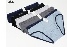wholesale low price high quality 3 pcs lots Men's cotton ventilation briefs underwear dfg