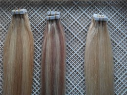 "$enCountryForm.capitalKeyWord Canada - Piano Color Tape In Human Hair Extensions 100g 40pcs set Brazilian Peruvian Tape Hair Extensions 14""-28"" Best Selling Hair Promotion"