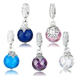 Discount moon star bracelets - Wholesale-100% Real 925 Sterling Silver Moon & Star Charm Blue Crystal Fit Original Bracelet Pendant Authentic Same