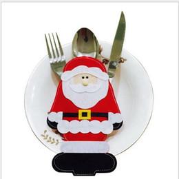 21e77480685e3 2 pcs Happy Santa Claus Tableware Silverware Suit Christmas Dinner Party  Decor Christmas Decorations 11.5 17.5cm