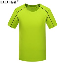 Quick Dry Sports T Canada - Wholesale-Men'S T Shirt Outdoor Sport Breathable Quick Dry Tshirts Men Running Hiking Coolmax Men'S Tee Short Sleeve T Shirt