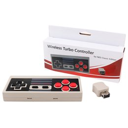 Joystick nintendo online shopping - Newest G Wireless Turbo Controller Gamepad Joystick For NES Nintendo Mini Classic Edition free DHL shipping