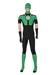 Chinese  New Style Black Ahd Green Lantern Short Sleeves Superhero Costume Halloween Party Cosplay Zentai Suit manufacturers