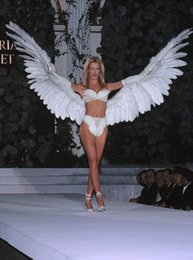Large White Feathers Canada - Custom Unique high quality white large size Angel Devil Feather Wings stage performance COSPLAY props EMS Free Shipping