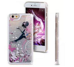 $enCountryForm.capitalKeyWord Canada - Bling Glitter Liquid Sexy Girl Lady Umbrella Star Hard PC Case Quicksand Bird Cover Powder Clear Skin For IPhone 7 7Plus SE 5 5S 6 6S Plus