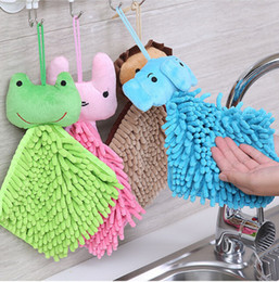 $enCountryForm.capitalKeyWord Australia - Cute cartoon Animal Chenille Home quick-dry towel Absorbent Hand Dry For Kitchen Bathroom