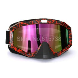 motorcycle bike atv motocross goggles UK - Motocross Dirt Bike ATV Off-Road Snowboard Goggles Glasses&Motorcycle Goggles 7 color lens
