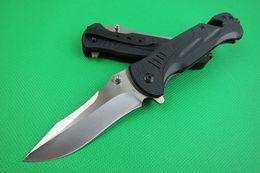 wholesale lock blade knife 2019 - Custom Knives - Spring Assisted Fast Opening Flipper Knife 440C Drop Point Satin Blade Black G10 Handle EDC Gear Liner L