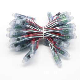 Venta al por mayor de Edison2011 500 unids WS2811 IC LED Pixel Módulo Luz 12mm Punto impermeable Luz DC5V RGB Cadena Luz direccionable de Navidad para letras Signo