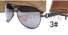 Blue mirrored sunglasses women online shopping - summer men brand sunglasses beach for women fashion mens metal sunglasses Driving Glasses riding wind mirror Cool sun glasses