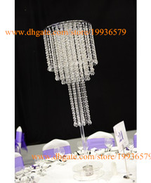 Chinese  4 tier clear tall flower centerpieces wedding road lead of table top chandelier manufacturers